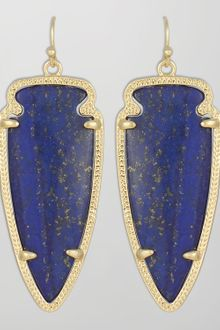 Kendra Scott Skylar Arrow Earrings Lapis - Lyst