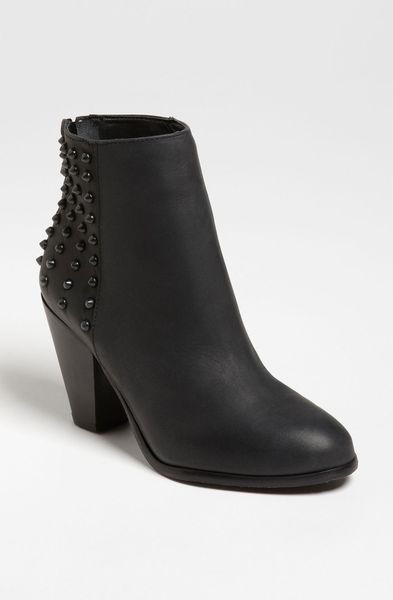 Steve Madden Acedd Bootie in Black (black leather) - Lyst
