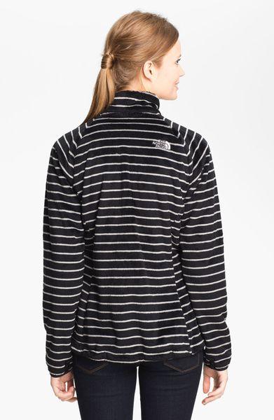 The North Face Osito Stripe Fleece Jacket In Blue Black