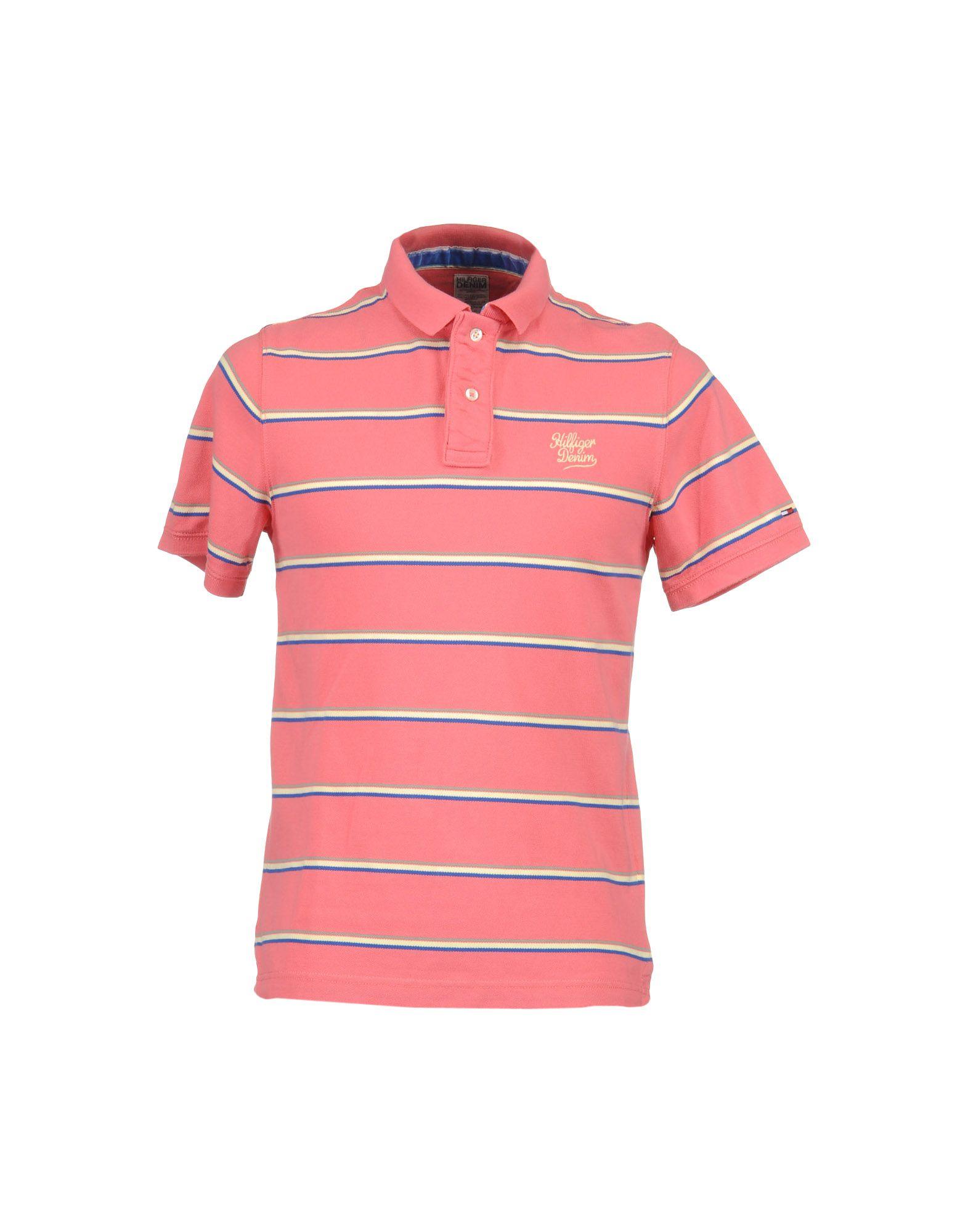 tommy hilfiger denim polo shirt in pink for men lyst. Black Bedroom Furniture Sets. Home Design Ideas