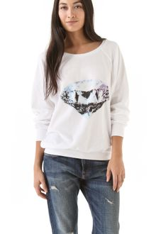 Wildfox Diamond Velour Sweatshirt - Lyst
