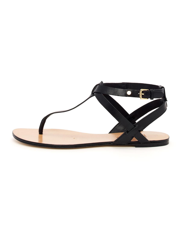a9ad3ac26a1b3 Lyst - Michael Kors Korsjanaya Flat Sandal in Black