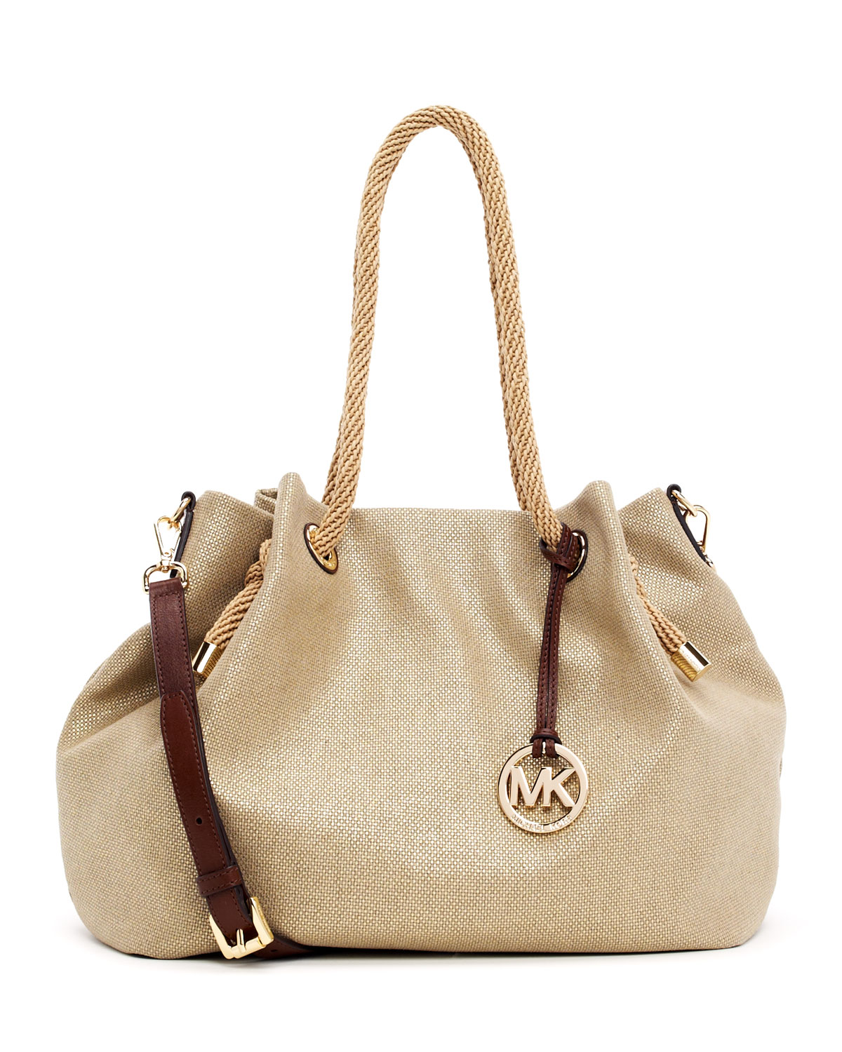 f14eb4749c9b Lyst - Michael Kors Large Marina Canvas Tote with Strap in Natural