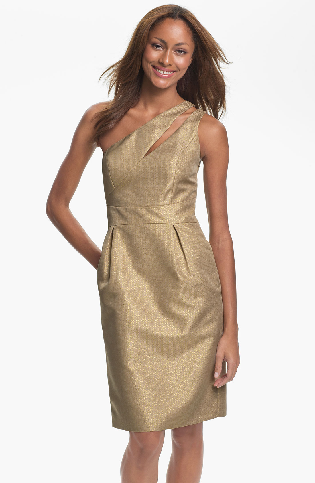 Nordstrom: Ml Monique Lhuillier Bridesmaids One Shoulder Metallic
