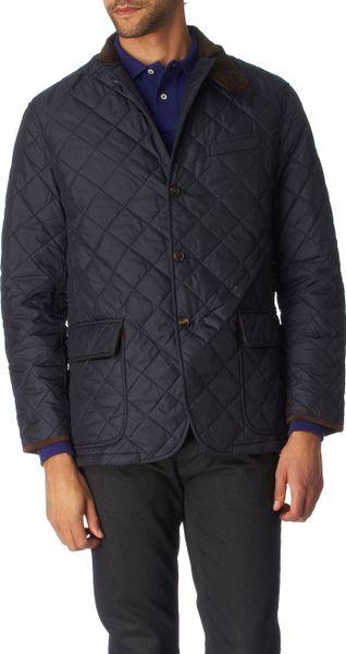 Ralph Lauren Quilted Sport Coat In Blue For Men Navy Lyst