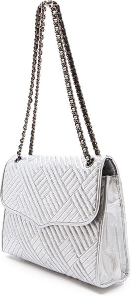 Rebecca Minkoff Metallic Quilted Large Affair Bag In