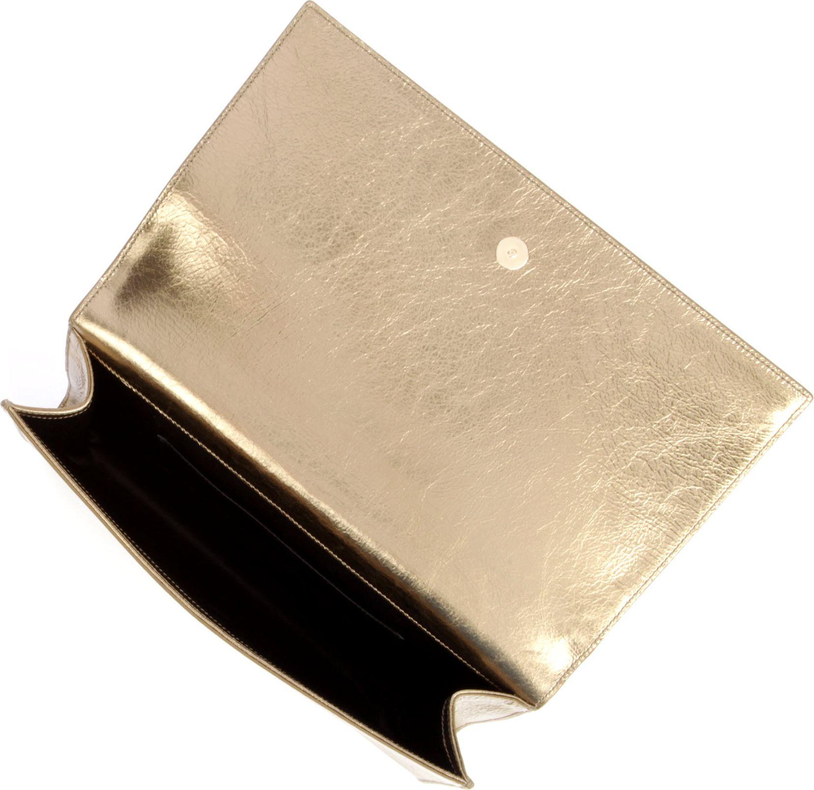 7595a8def862 Saint Laurent Belle Du Jour Clutch in Metallic - Lyst