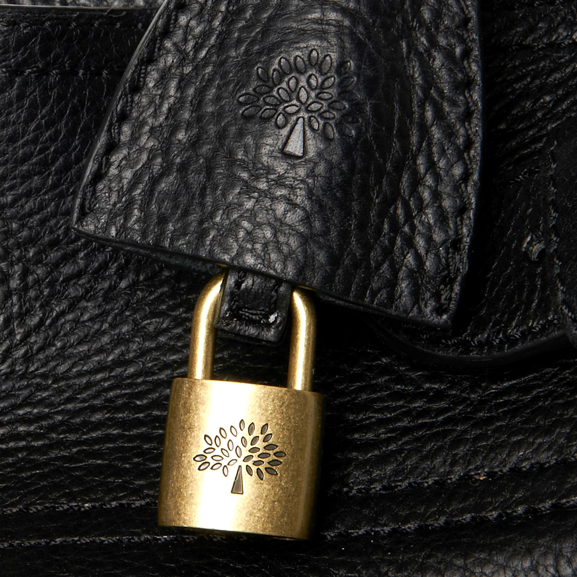 01405d90a3e ... promo code for mulberry bayswater natural leather tote in black lyst  d1896 08d1c