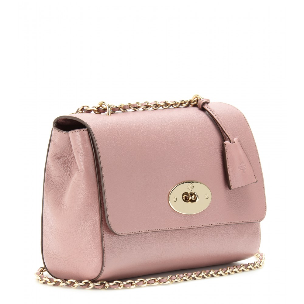 e651cdafd9 ... discount lily dark blush small classic grain women mulberry lyst  mulberry medium lily glossy leather shoulder