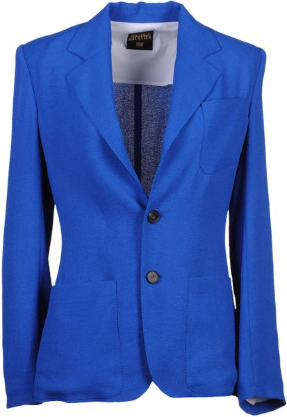 Jean Paul Gaultier Two Button Blazer in Blue - Lyst