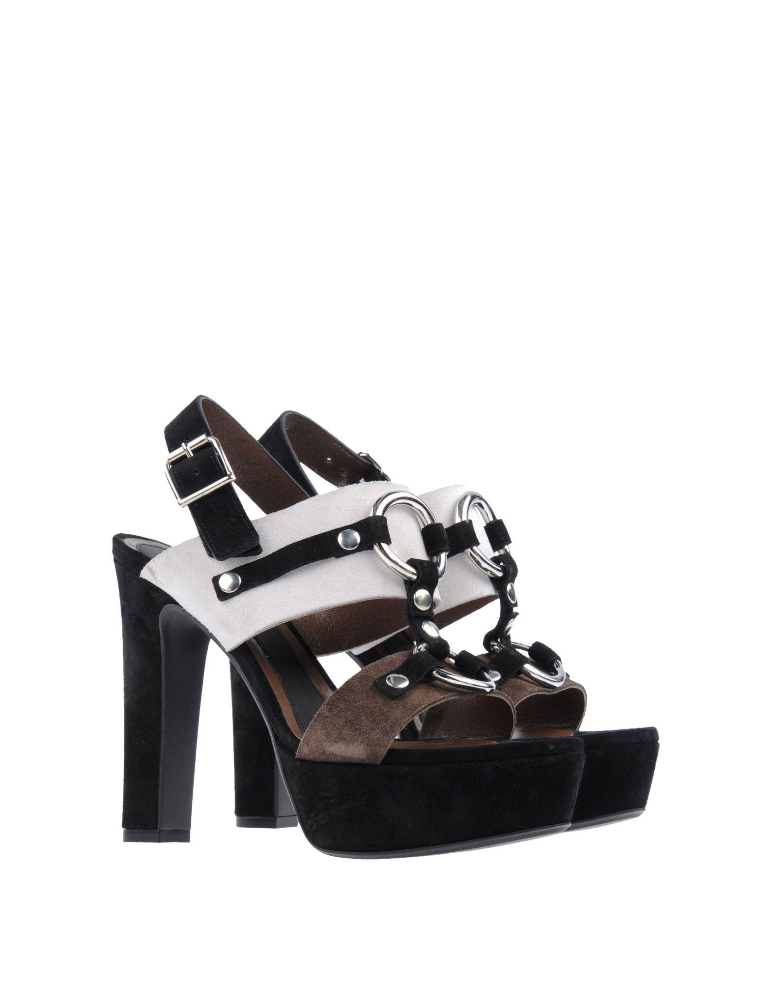 marni platform sandals in black ivory lyst