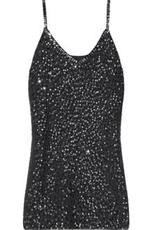 Donna Karan New York Sequined Cashmere and Silkblend Top - Lyst