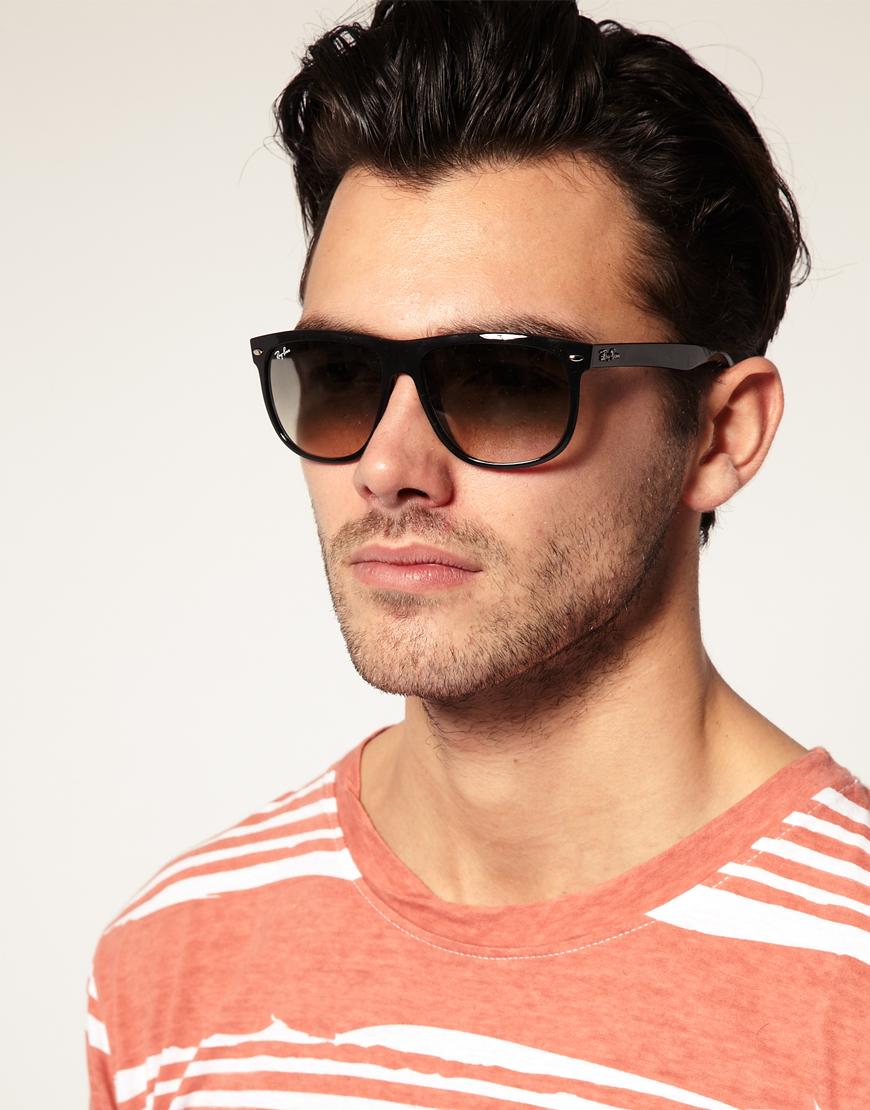 cda5b6f741 ... discount lyst ray ban rayban flat brow wayfarer sunglasses in black for  men eb9f5 1d93e