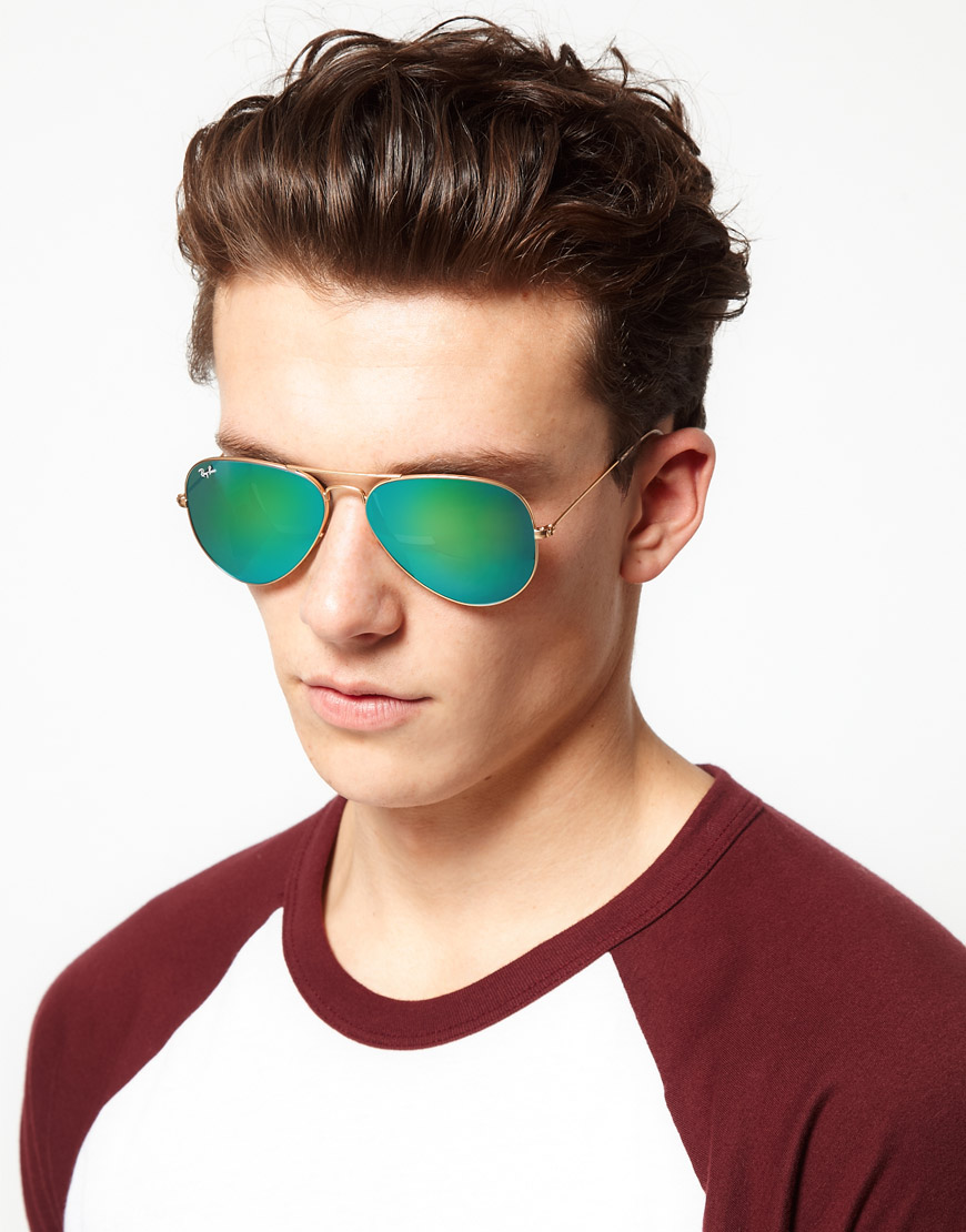 ray ban men  Ray-ban Aviator Sunglasses in Metallic for Men