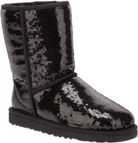 ugg sequin embellished boot in black lyst