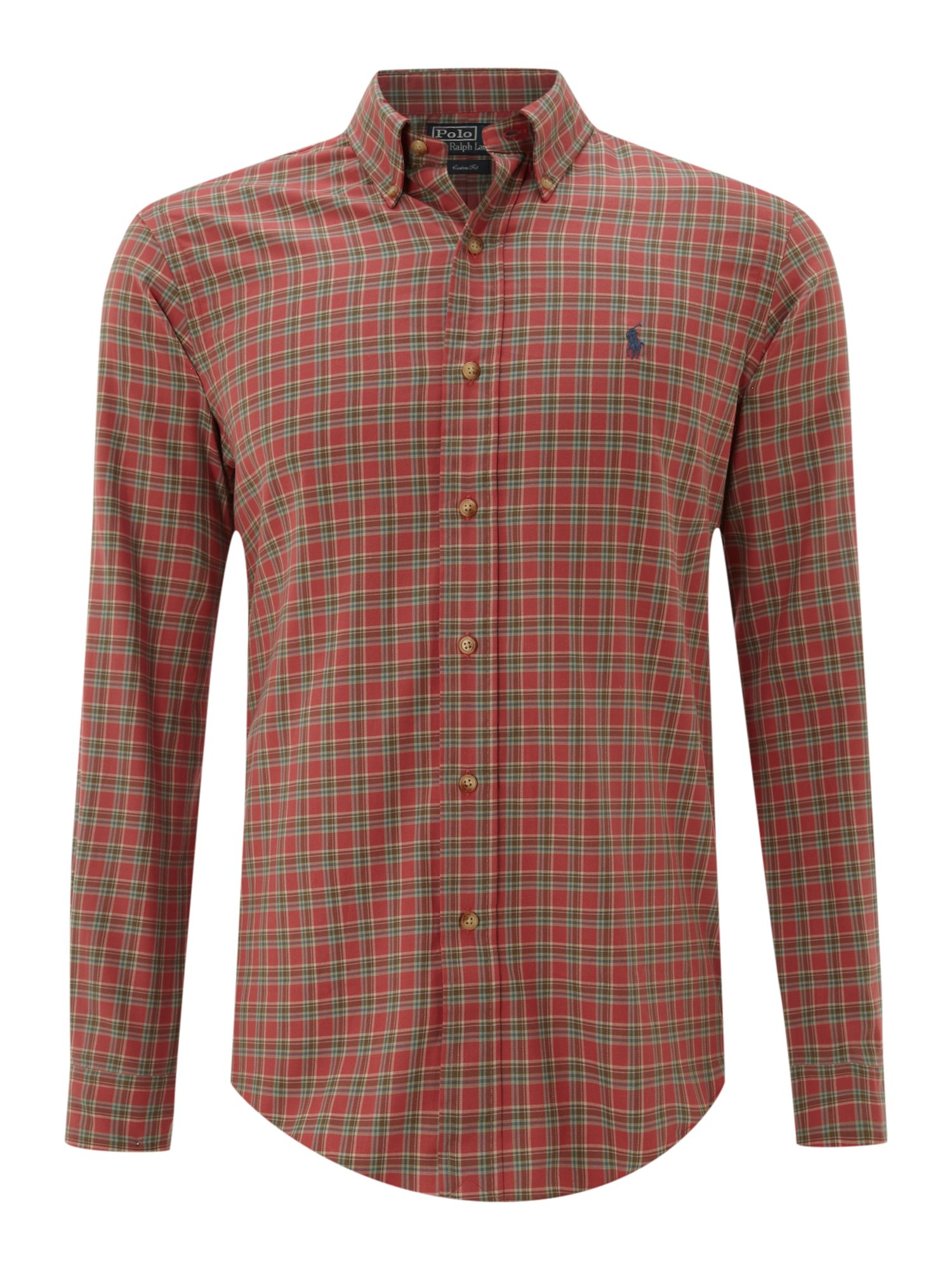 Polo Ralph Lauren Long Sleeved Washed Checked Shirt In Red