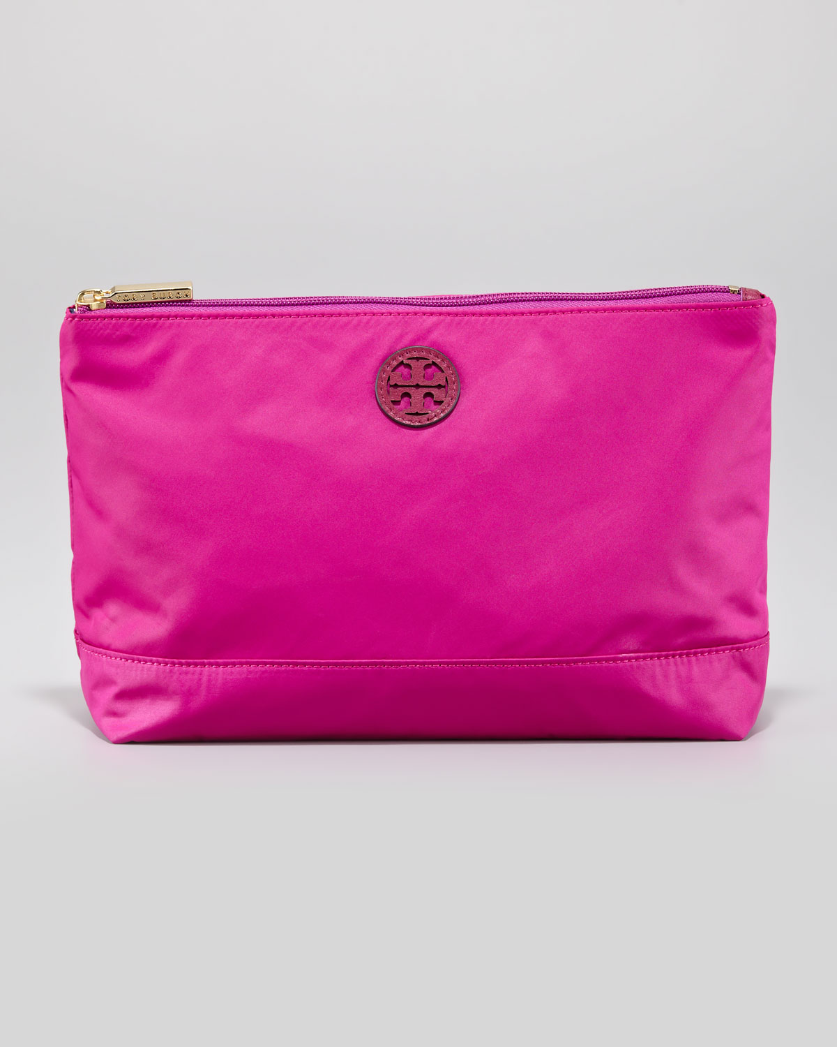 Tory Burch Large Nylon Cosmetic Case Party Fuchsia Pink