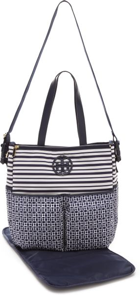 Tory Burch Stacked Logo Billy Baby Bag In Blue Navy Lyst