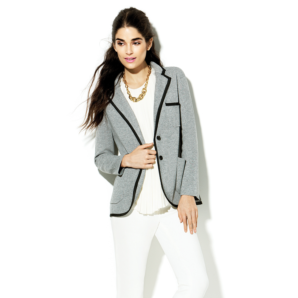 Vince Camuto Milano Stitch Sweater Jacket in Gray (carbon ...