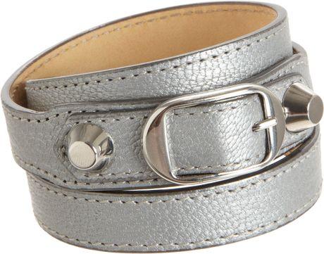 Balenciaga Arena Classic Double Tour Bracelet in Silver