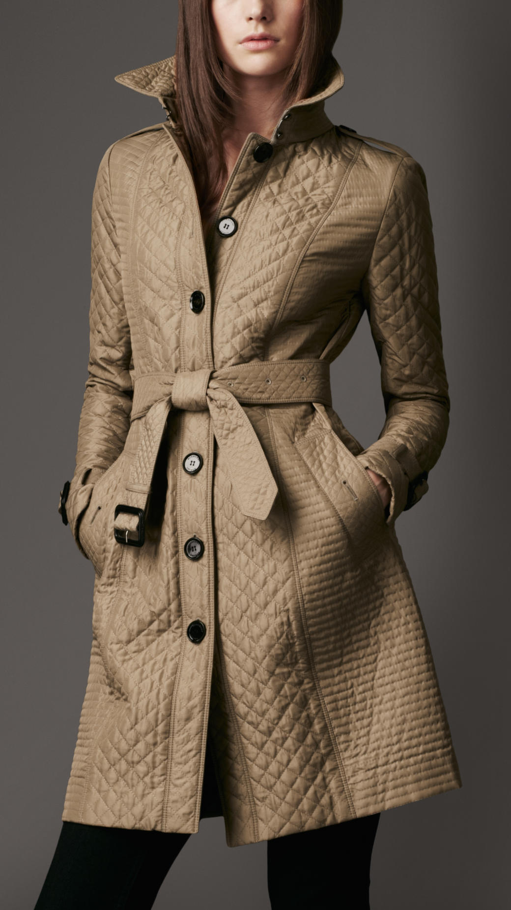 Long Quilted Coat Jacketin