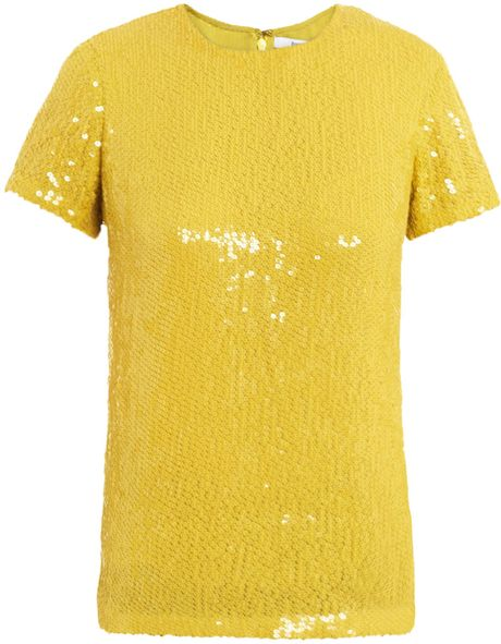Yellow Sequin Blouse 50