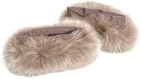 Maxmara S Max Suzanna Fur Cuffs in Brown (taupe) - Lyst