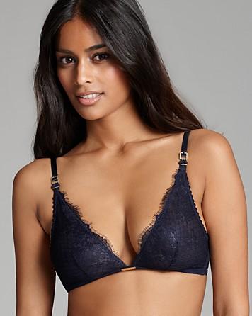 81595cb4e4c3e Lyst - Ash Calvin Klein Underwear Bralette Eyelash Chantilly Lace ...