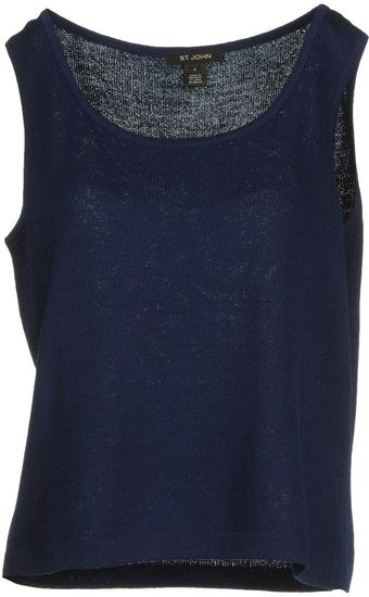 St. John Sleeveless Sweater - Lyst