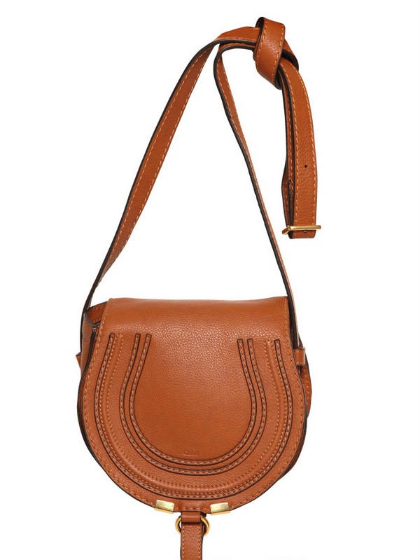 chlo small marcie leather cross body bag in brown tan. Black Bedroom Furniture Sets. Home Design Ideas