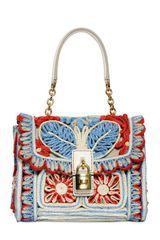 Dolce & Gabbana Dolce Bag Embroidered Raffia Bag