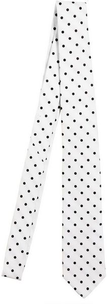 Dolce & Gabbana 5cm Polkadot Silk Twill Tie in White for Men