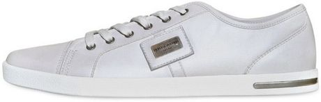 Dolce & Gabbana Inghilterra Full Grain Leather Sneakers in White for Men