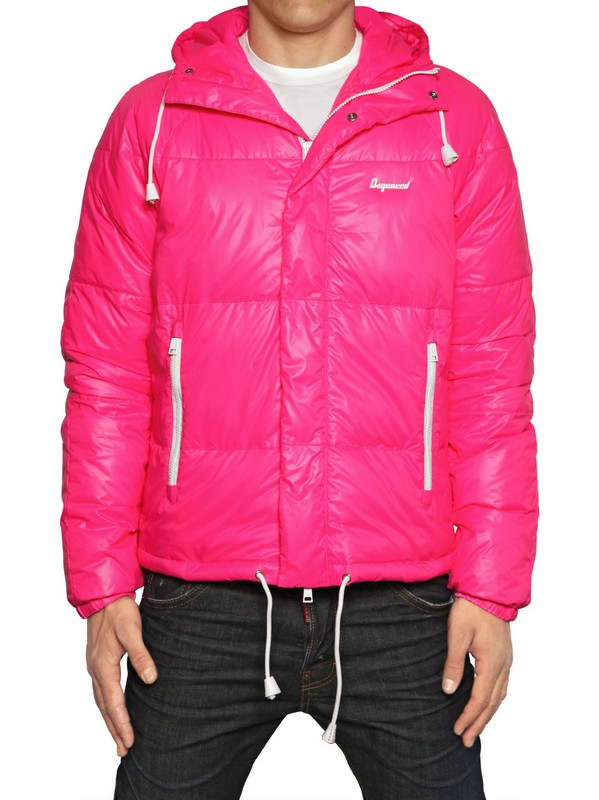 Dsquared² Puffy Kway Padded Nylon Down Jacket in Pink for ...