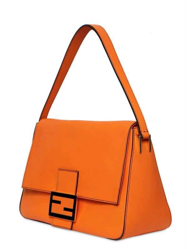 4f264f7ba579 ... sweden lyst fendi big mamma leather shoulder bag in orange 93e72 aa344