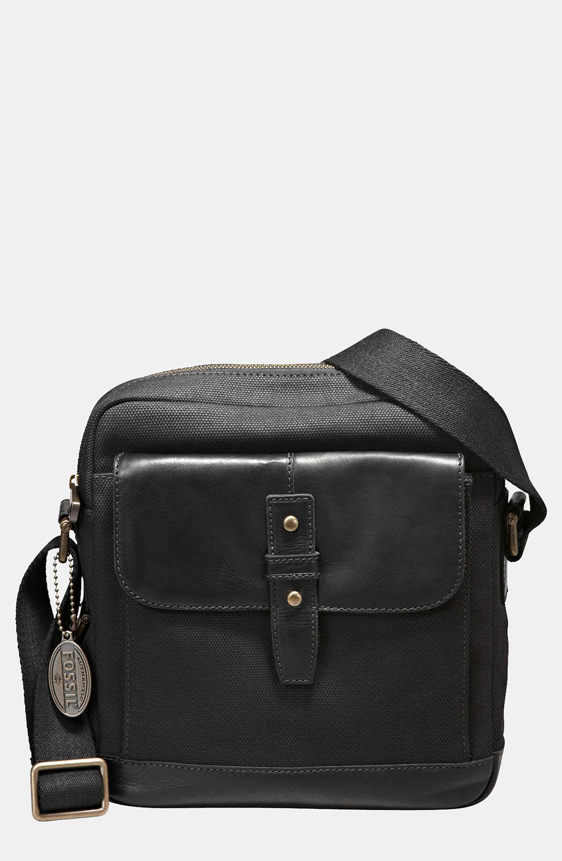 Fossil Dillon Crossbody Bag In Black For Men Lyst