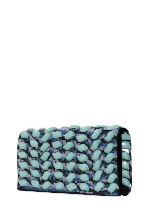 0f47dc727287 Lyst - Giorgio Armani Beads and Sequins On Satin Clutch in Blue