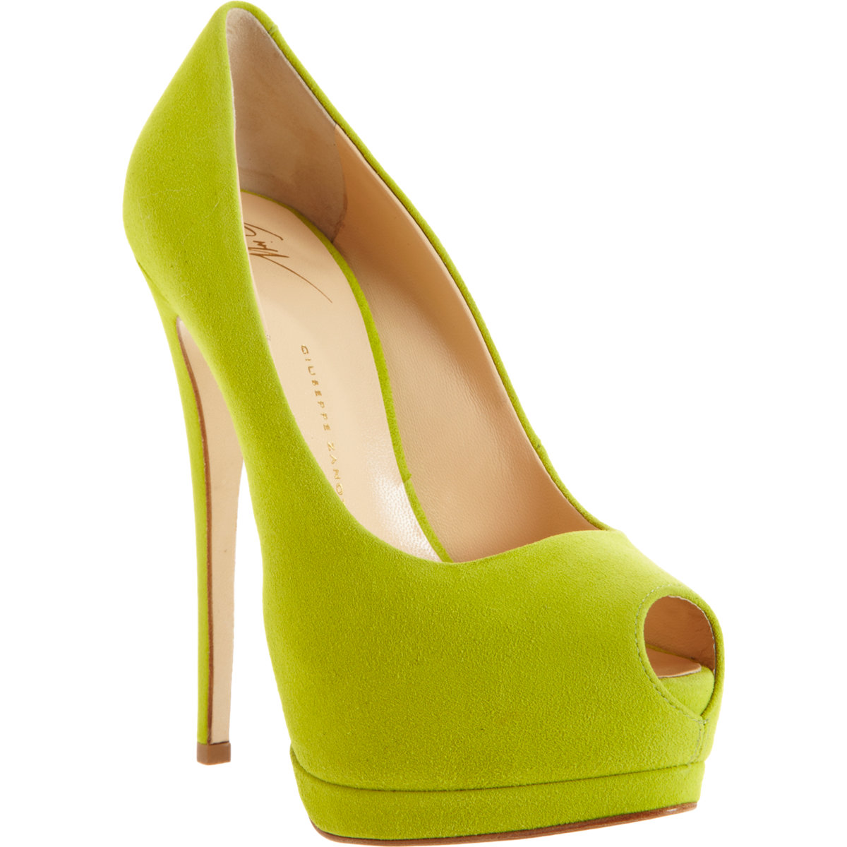 Green And Yellow Heels - Is Heel