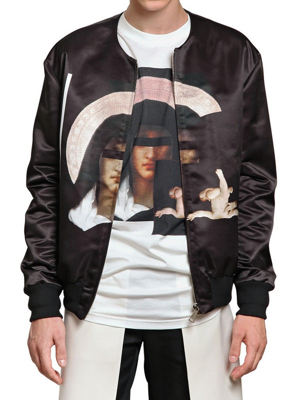 ccd08c945 Givenchy Printed Nylon Bomber Jacket in Black for Men - Lyst