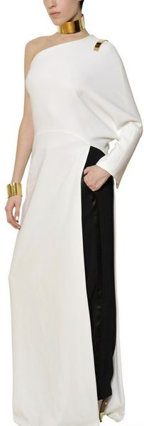 Givenchy Stretch Viscose Cady Long Dress in White