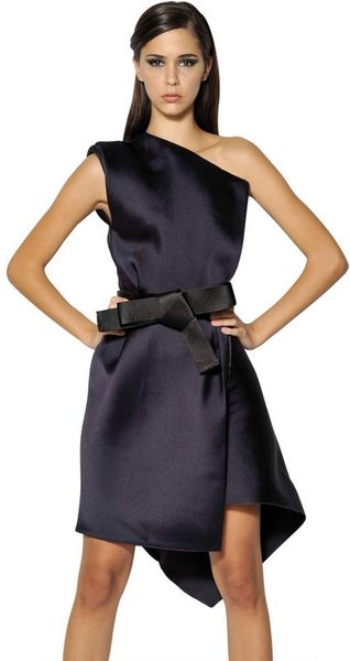 Lanvin Techno Duchesse Dress in Purple