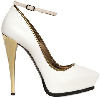 Lanvin 130mm Mirrored Heel Leather Pumps - Lyst