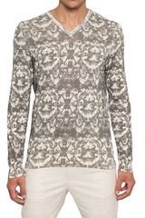 McQ by Alexander McQueen Bleached Fly Printed Cotton Sweater