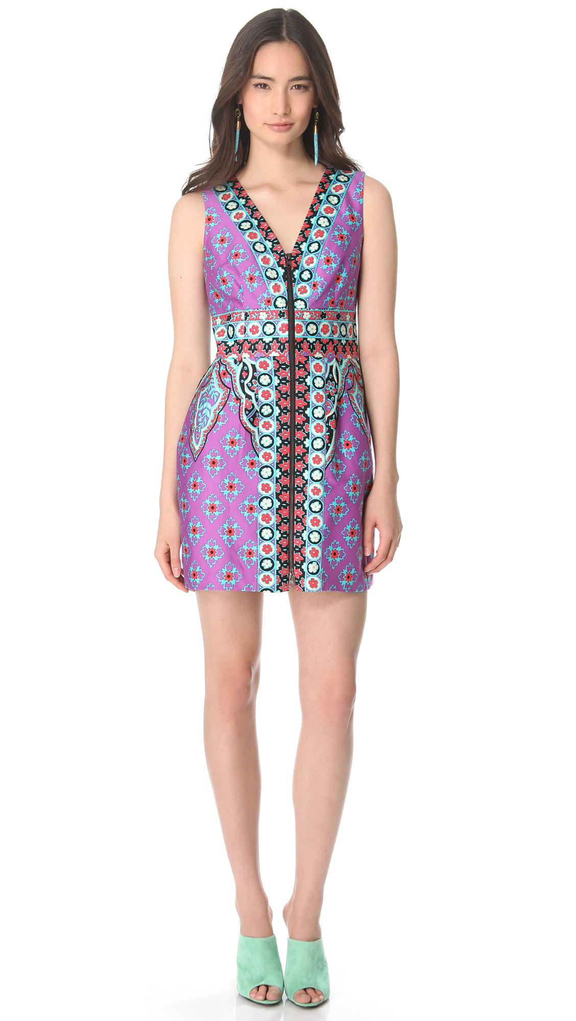Nanette Lepore Funky Dress In Purple Multi Lyst