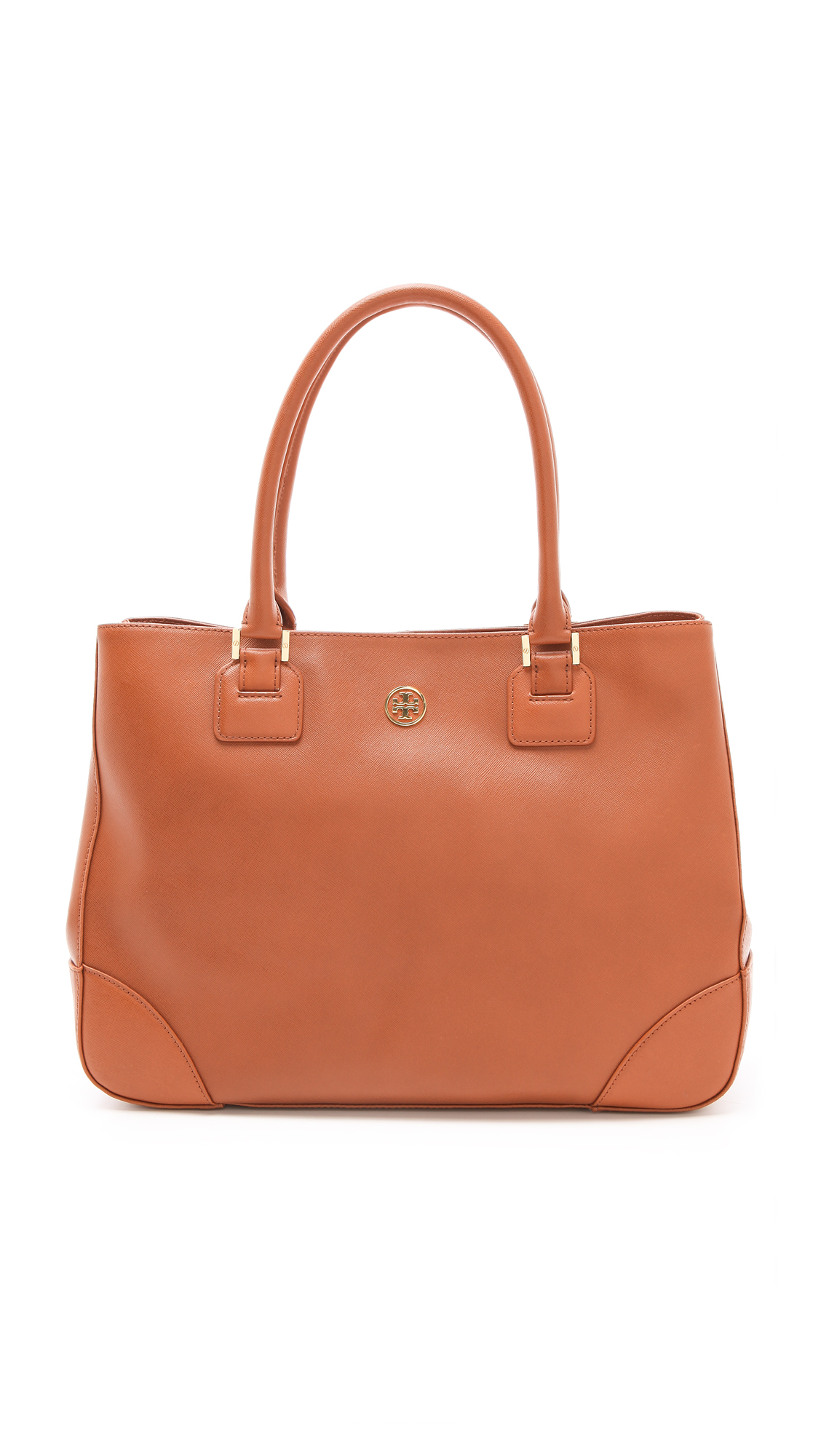 46a582355838 Lyst - Tory Burch Robinson East West Tote in Brown