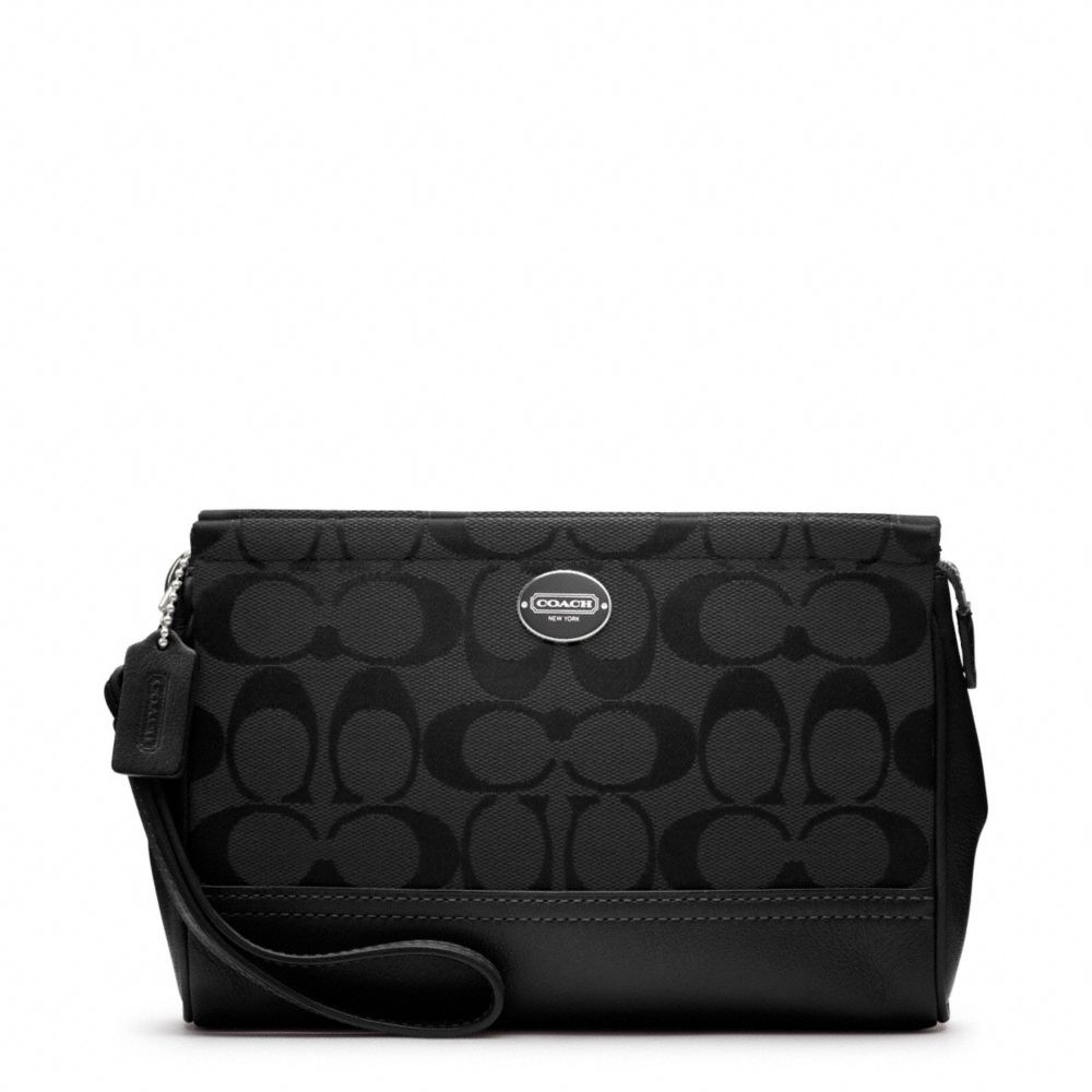 Coach Legacy Signature Large Wristlet in Black   Lyst