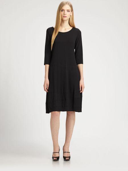 Eileen Fisher Jersey Dress in Black