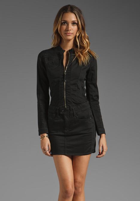 star raw midge cody dress in black lyst. Black Bedroom Furniture Sets. Home Design Ideas