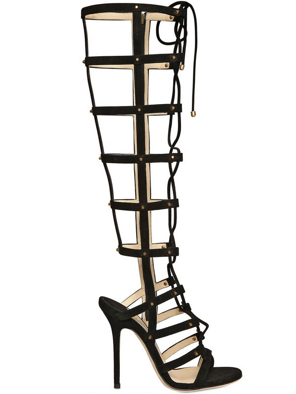 Lyst Jimmy Choo Mogul Suede Gladiator Sandals In Black