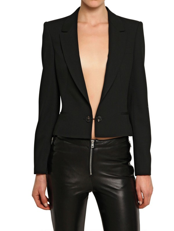 Mcq Cool Wool Short Tailored Jacket in Black | Lyst